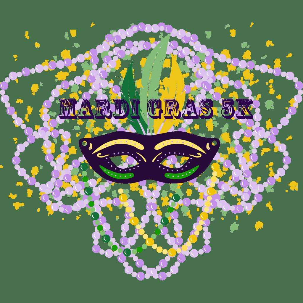 Mardi Gras 5K Logo
