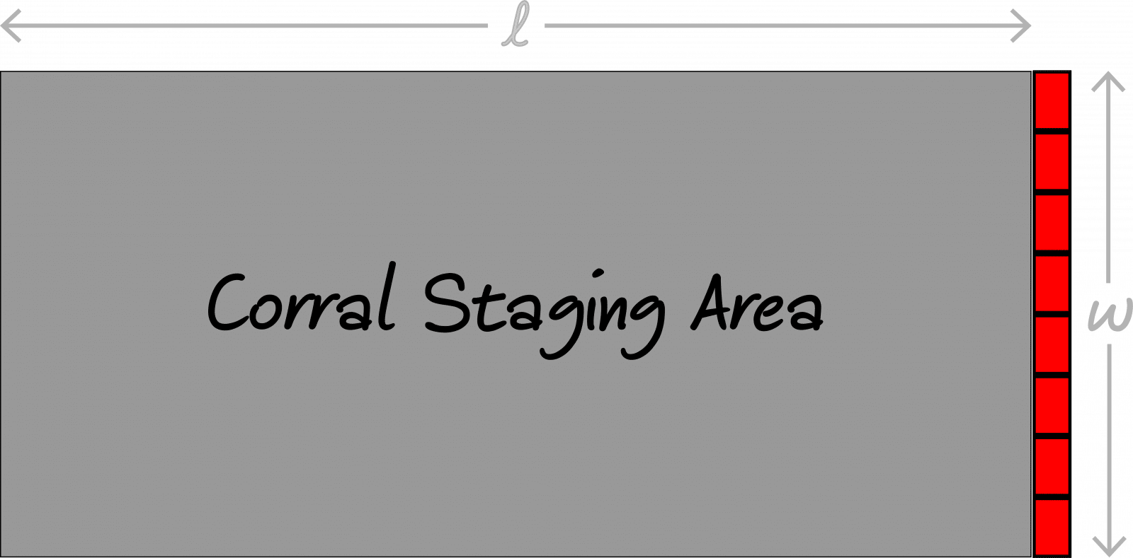 Corral Staging Area